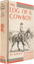 Books:Signed Editions, Andy Adams. The Log of a Cowboy. Narrative of the Old TrailDays. Boston and New York: Houghton Mifflin Company,...