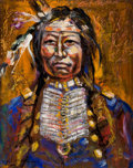 Fine Art - Painting, American:Contemporary   (1950 to present)  , The Collection of Paul Gregory and Janet Gaynor. O.E.L.GRAVES (American, 1897-1971). Portrait of an Indian(Spotted...