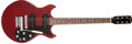 Musical Instruments:Electric Guitars, 1966 Gibson Melody Maker D Cherry Solid Body Electric Guitar,#530547....
