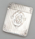 Silver Smalls:Match Safes, AN AMERICAN SILVER MATCH SAFE . Maker unknown, probably American,circa 1900. Marks: STERLING. 2-1/4 inches high (5.7 cm...