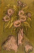 Other:American, The Collection of Paul Gregory and Janet Gaynor. O.E.L.GRAVES (American, 1897-1971). Floral Bouquet. Mixed media...