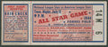 Baseball Collectibles:Tickets, 1944 Major League Baseball All Star Game Ticket Stub....