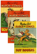 Golden Age (1938-1955):Miscellaneous, March of Comics Gene Autry and Roy Rogers Group (K. K. Publications, Inc., 1949-51) Condition: Average VF.... (Total: 6 Comic Books)