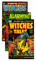 Golden Age (1938-1955):Horror, Witches Tales/Alarming Tales File Copies Group (Harvey, 1952-58)Condition: Average VG.... (Total: 6 Comic Books)
