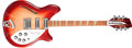 Musical Instruments:Electric Guitars, 1989 Rickenbacker Roger McGuinn Fireglo Semi-Hollow Body Electric12-String Guitar, #F28193. ...