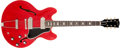 Musical Instruments:Electric Guitars, 1964 Gibson ES-330 Cherry Semi-Hollow Body Electric Guitar,#175100. ...