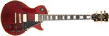 Musical Instruments:Electric Guitars, 1980 Gibson Les Paul Custom Wine Red Solid Body Electric Guitar,#82740655. ...