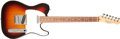 Musical Instruments:Electric Guitars, 1988 Fender Telecaster Sunburst Solid Body Electric Guitar,#E807584. ...