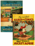 Golden Age (1938-1955):Miscellaneous, March of Comics Mickey Mouse Group (K. K. Publications, Inc., 1948-51) .... (Total: 2 Comic Books)