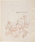 Animation Art:Production Drawing, Donald Duck Good Scouts Movie Poster Preliminary SketchAnimation Art (Disney, 1938)....
