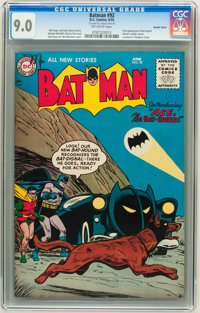 Batman #92 Double Cover - Williamsport pedigree (DC, 1955) CGC VF/NM 9.0 Off-white pages