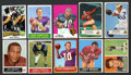Football Cards:Lots, 1954 to 1975 Topps & Bowman Football Star Collection (46). ...