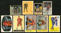 Hockey Cards:Lots, 1930's - 1960's O-Pee-Chee, Berk Ross and Parkhurst StarsCollection (9) With Two Gordie Howe Cards. ...