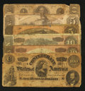 Confederate Notes:Group Lots, Confederate Currency Corp.. ... (Total: 6 notes)