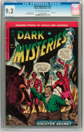 Golden Age (1938-1955):Horror, Dark Mysteries #21 (Master Publications, 1954) CGC NM- 9.2Off-white to white pages....