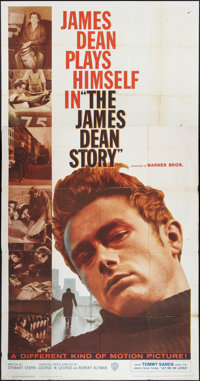 """The James Dean Story (Warner Brothers, 1957). Three Sheet (41"""" X 81""""). Documentary"""