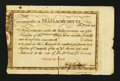 Colonial Notes:Massachusetts, Massachusetts Treasury Certificate at 5% Interest $600 February 7,1781 Anderson MA-24 Very Fine.. ...