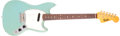 Musical Instruments:Electric Guitars, 1965 Fender Musicmaster II Daphne Blue Solid Body Electric Guitar,#L54781. ...