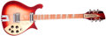 Musical Instruments:Electric Guitars, 1997 Rickenbacker Tom Petty Limited Edition Fireglo Solid BodyElectric Guitar, #N08934....