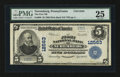 National Bank Notes:Pennsylvania, Nuremberg, PA - $5 1902 Plain Back Fr. 609 The First NB Ch. #12563. ...