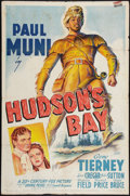 "Movie Posters:Adventure, Hudson's Bay (20th Century Fox, 1941). One Sheet (27"" X 41"").Adventure.. ..."