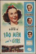 """Movie Posters:Musical, 100 Men and a Girl (Universal, R-1947). One Sheet (27"""" X 41"""").Musical.. ..."""