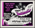 "Movie Posters:Rock and Roll, Musical Mutiny/Weekend Rebellion Combo (Cineworld, 1970). HalfSheet (22"" X 28""). Rock and Roll.. ..."