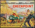 "Movie Posters:Crime, Checkpoint (Rank, 1956). British Half Sheet (22"" X 28""). Crime....."