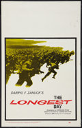 "Movie Posters:War, The Longest Day (20th Century Fox, 1962). Window Card (14"" X 22"").War.. ..."