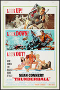"Movie Posters:James Bond, Thunderball (United Artists, 1965). One Sheet (27"" X 41""). James Bond.. ..."