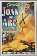 "Movie Posters:Drama, Joan of Arc (RKO, 1948). One Sheet (27"" X 41"") Advance Style C. Drama.. ..."