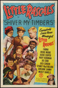 """Movie Posters:Comedy, Little Rascals (Monogram, R-1951). Stock One Sheet (27"""" X 41"""").Shiver My Timbers. Comedy.. ..."""