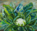 Fine Art - Painting, American:Contemporary   (1950 to present)  , The Collection of Paul Gregory and Janet Gaynor. JANETGAYNOR (American, 1906-1984) . Cauliflower, circa 1950.Oil...