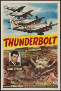"Movie Posters:Documentary, Thunderbolt (Monogram 1947). One Sheet (27"" X 41""). World War II Documentary.. ..."