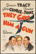 """Movie Posters:Crime, They Gave Him a Gun (MGM, 1937). One Sheet (27"""" X 41"""") Style C.Crime.. ..."""