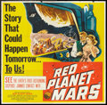 """Movie Posters:Science Fiction, Red Planet Mars (United Artists, 1952). Six Sheet (81"""" X 81""""). Science Fiction.. ..."""