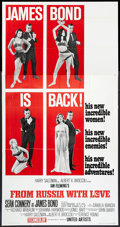 """Movie Posters:James Bond, From Russia with Love (United Artists, 1964). Three Sheet (41"""" X81""""). Style B. James Bond.. ..."""