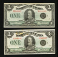 Canadian Currency: , DC-25o $1 1923 Two Examples.. ... (Total: 2 notes)