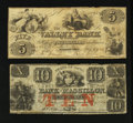 Obsoletes By State:Mixed States, Two Circulated Obsoletes.. ... (Total: 2 notes)