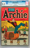 Golden Age (1938-1955):Humor, Archie Comics #1 (MLJ, 1942) CGC VF+ 8.5 White pages....