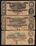 Confederate Notes:1864 Issues, T68's and a T69.. ... (Total: 3 notes)