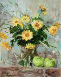 Fine Art - Painting, American:Contemporary   (1950 to present)  , The Collection of Paul Gregory and Janet Gaynor. JANETGAYNOR (American, 1906-1984). Still Life of Yellow Daisiesan...