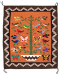Rugs & Textiles:Carpets, The Collection of Paul Gregory and Janet Gaynor. A NAVAJOPICTORIAL WEAVING. 20th century. 24 x 28 inches (61.0 x 71.1...