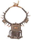 Jewelry, THE COLLECTION OF PAUL GREGORY AND JANET GAYNOR. JANET GAYNOR'S EGYPTIAN NECKLACE. 18-1/2 inches (47.0 cm). Silver met...