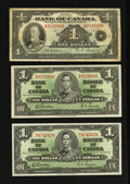 Canadian Currency: , King George V and King George VI $1 Notes. . ... (Total: 3 notes)
