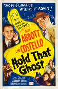 "Movie Posters:Comedy, Hold That Ghost (Realart, R-1948). One Sheet (27"" X 41"").. ..."