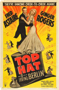 "Movie Posters:Musical, Top Hat (RKO, R-1953). One Sheet (27"" X 41""). Musical.. ..."