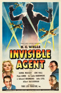 """Movie Posters:War, Invisible Agent (Universal, 1942). One Sheet (27"""" X 41"""").. ..."""