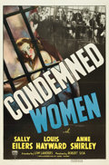 """Movie Posters:Crime, Condemned Women (RKO, 1938). One Sheet (27"""" X 41"""").. ..."""