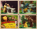 "Movie Posters:Horror, Jungle Captive (Universal, 1945). Title Lobby Card and Lobby Cards(3) (11"" X 14"").. ... (Total: 4 Items)"